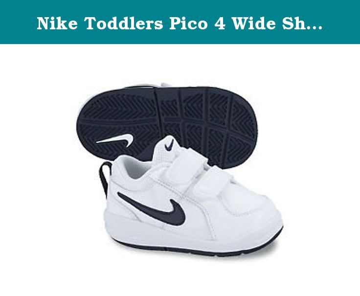 Nike Toddlers Pico 4 Wide Shoes-White Midnight Navy-3. Nike Pico 4 Toddler  Wide (TDV) 454506-101. 022b8c35919a