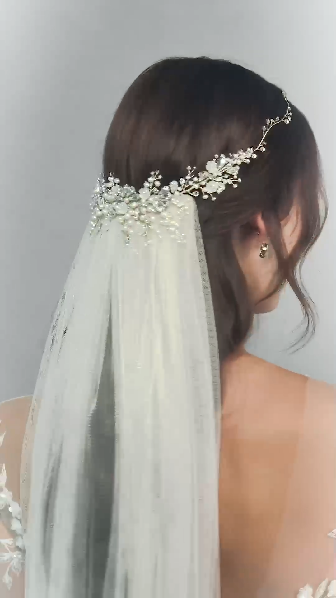 Cordelia Crystal Headpiece and Dewdrop Hairvine-hair accessories, wedding hairstyle, bridal look #bridalheadpieces