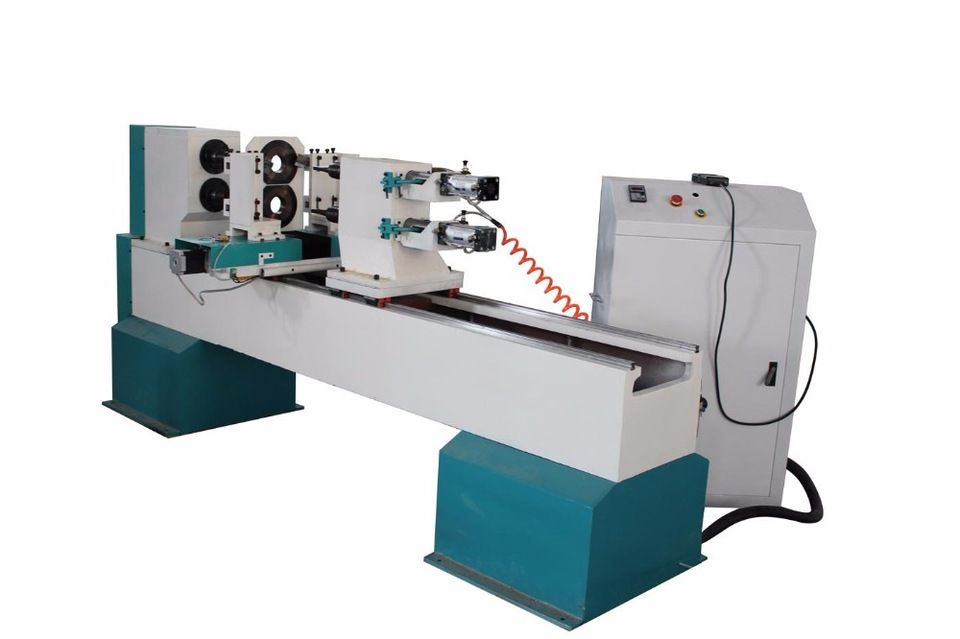 Tj 1516 Double Axises Automatic Cnc Wood Turning Lathe Machine For