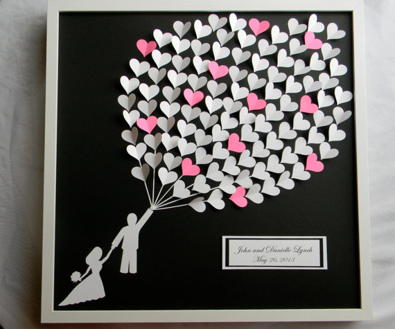 Alternative Gifts For Wedding Party : Wedding Guestbook Alternative, Weding Guest Book, Modern Guestbook ...