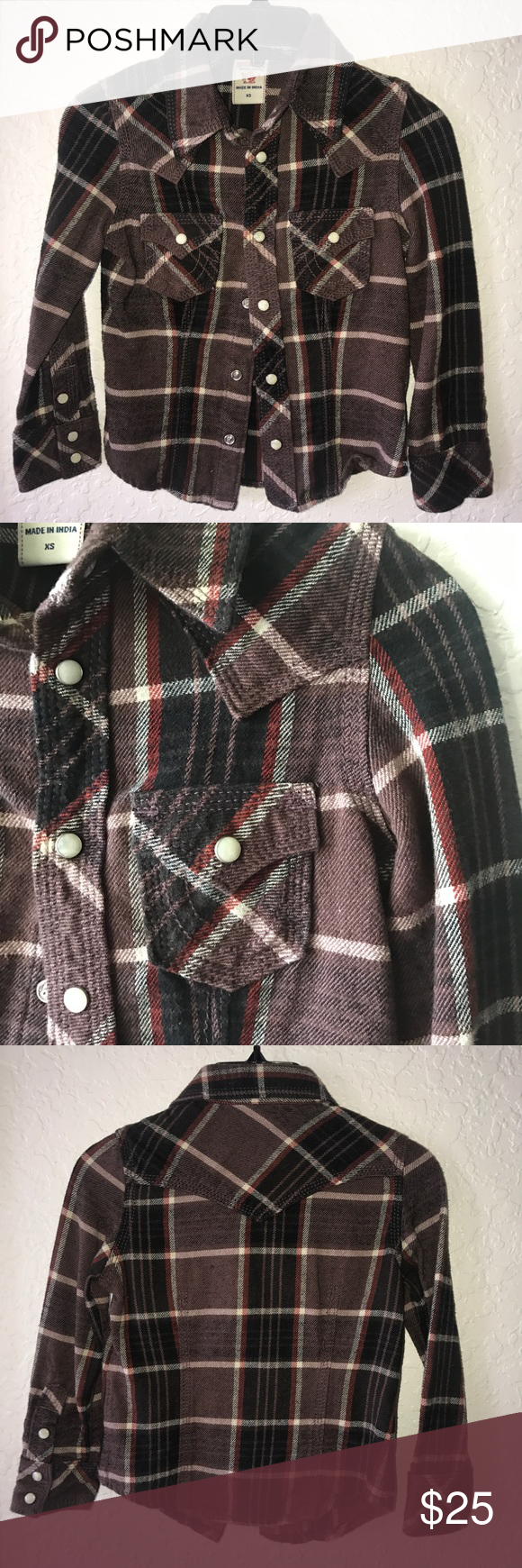Flannel shirt xs  True Religion kids button down  My Posh Picks  Pinterest