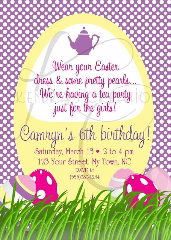 Easter birthday party invitation like the rhyme just for any girly easter birthday party invitation like the rhyme just for any girly party filmwisefo