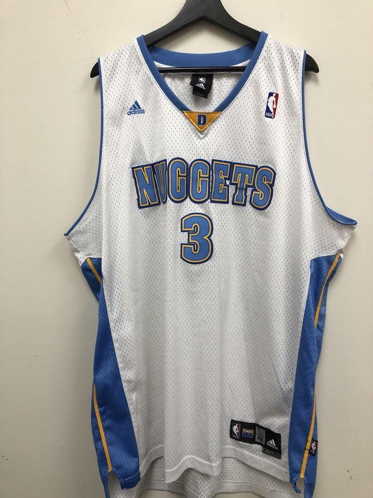 quality design 4bb1e 95e75 Adidas NBA Denver Nuggets Allen Iverson Authentic Jersey XXL ...