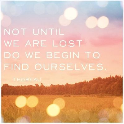 True...we don't know what we need, we don't know who we are until we have a reason to search and wonder and actively find out...