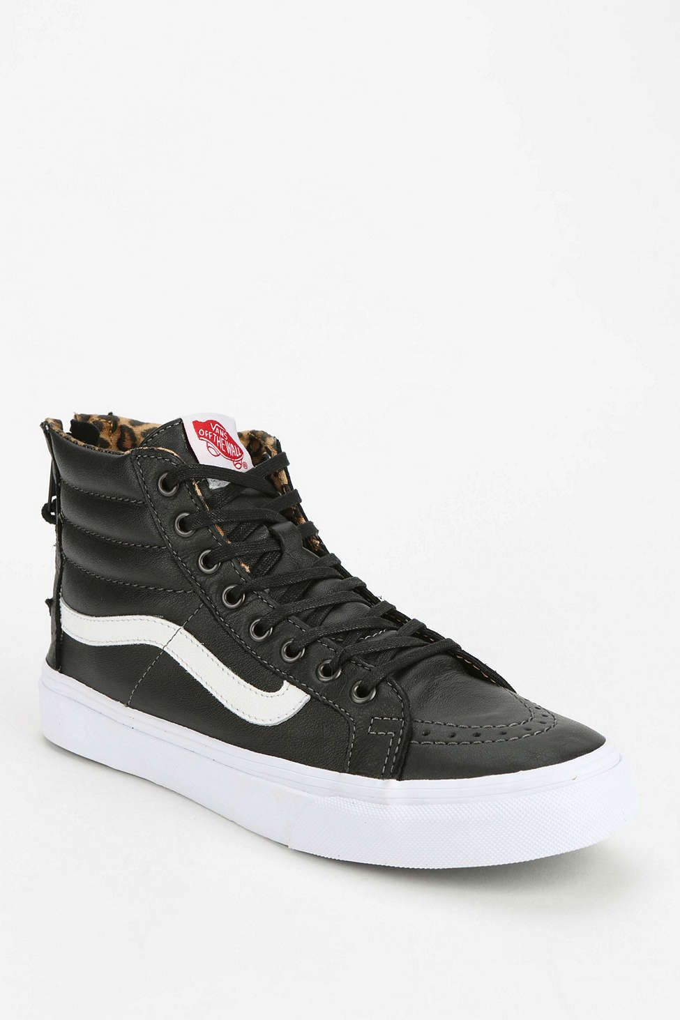 Fancy · Vans Sk8-Hi Back-Zip Leather Womens High-Top ...