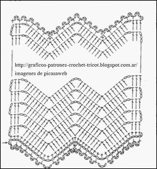 TEJIDOS A CROCHET - GANCHILLO - PATRONES: BUFANDAS TEJIDAS A ...