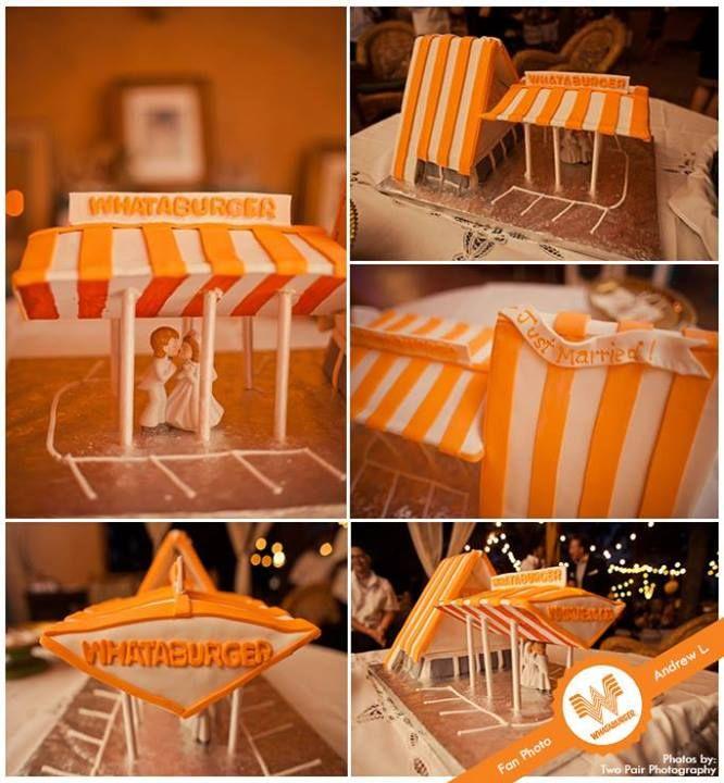 Whataburger wedding cake  Only in Texas    TEXAS   Rustic wedding