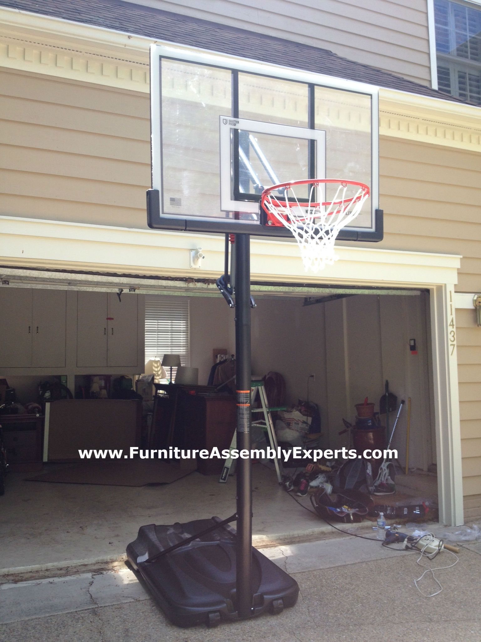 Amazon Lifetime Portable Basketball Hoop Assembled In Reston Va For A Customer By Furniture Assembly Expe Lifetime Basketball Hoop Furniture Assembly Floor Fan