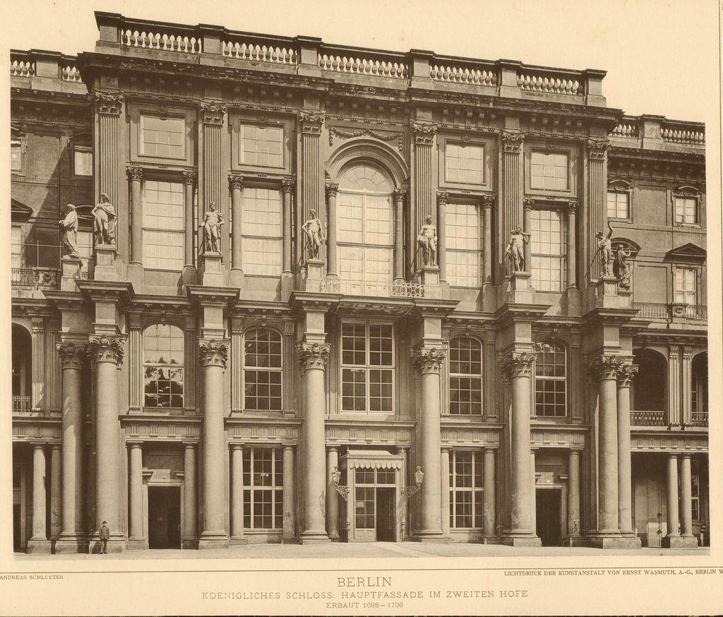 Berlin schloss Schlüterhof 1889 Berlin city, Berlin