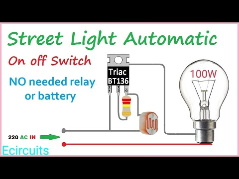 2540 Automatic Street Light On Off Dricetly With 220ac No Relay Or Battery Youtube In 2020 Electronic Circuit Projects Electronics Mini Projects Street Light