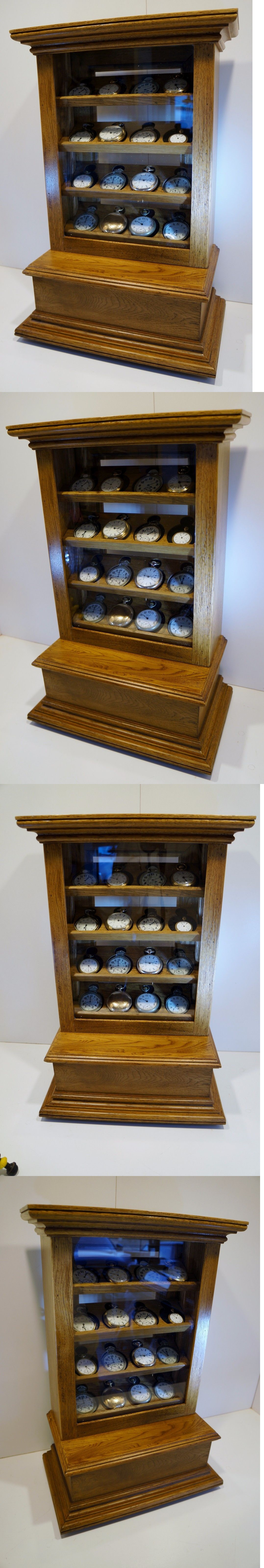 Antique 3940 Counter Top Pocket Watch Display Case Cabinet Displays