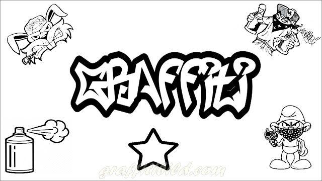 Beste Graffiti Ausmalbilder zum Ausdrucken Kostenlos