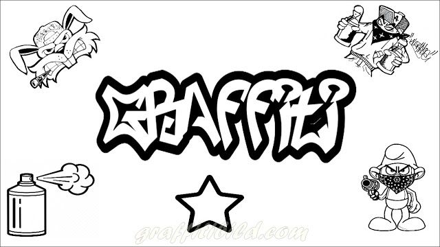 Graffiti Ausmalbilder Zum Ausdrucken Ausmalbilder Zum Ausdrucken Ausmalbilder Zum Ausdrucken Kostenlos Graffiti