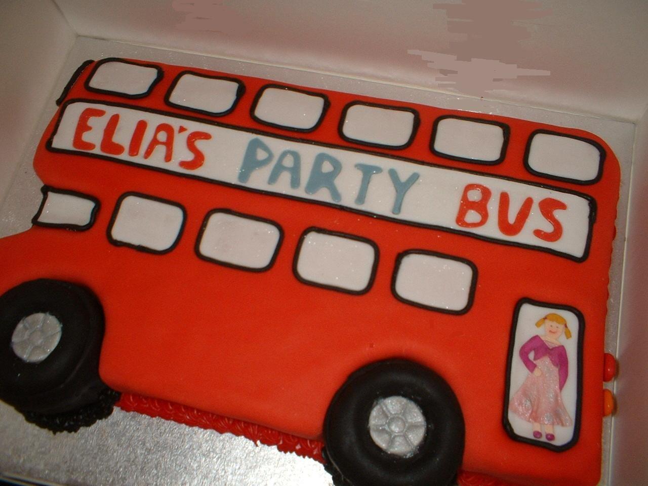 Red Bus Cake