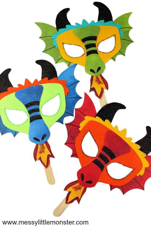 Chinese Dragon Mask - A fun printable dragon craft