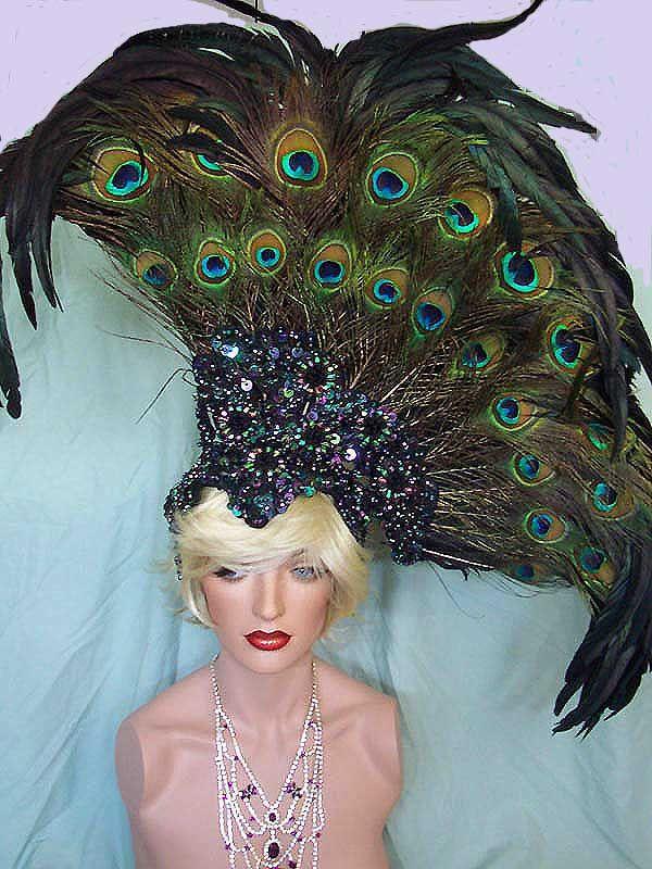 Elegant Peacock Feather Dresses