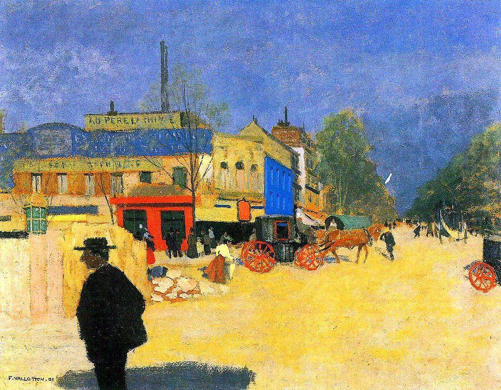 Place Clichy in Paris - Felix Vallotton 1901