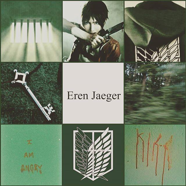 Eren Jaeger Erenjaeger Attackontitan Aesthetic Eren Jaeger Attack On Titan Eren Green Aesthetic