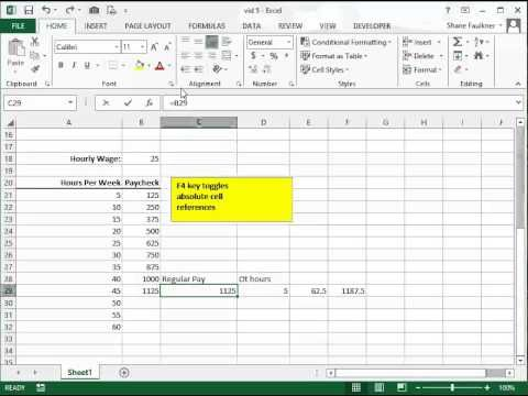 Microsoft Excel for Beginners #05--Absolute Cell Reference  Using