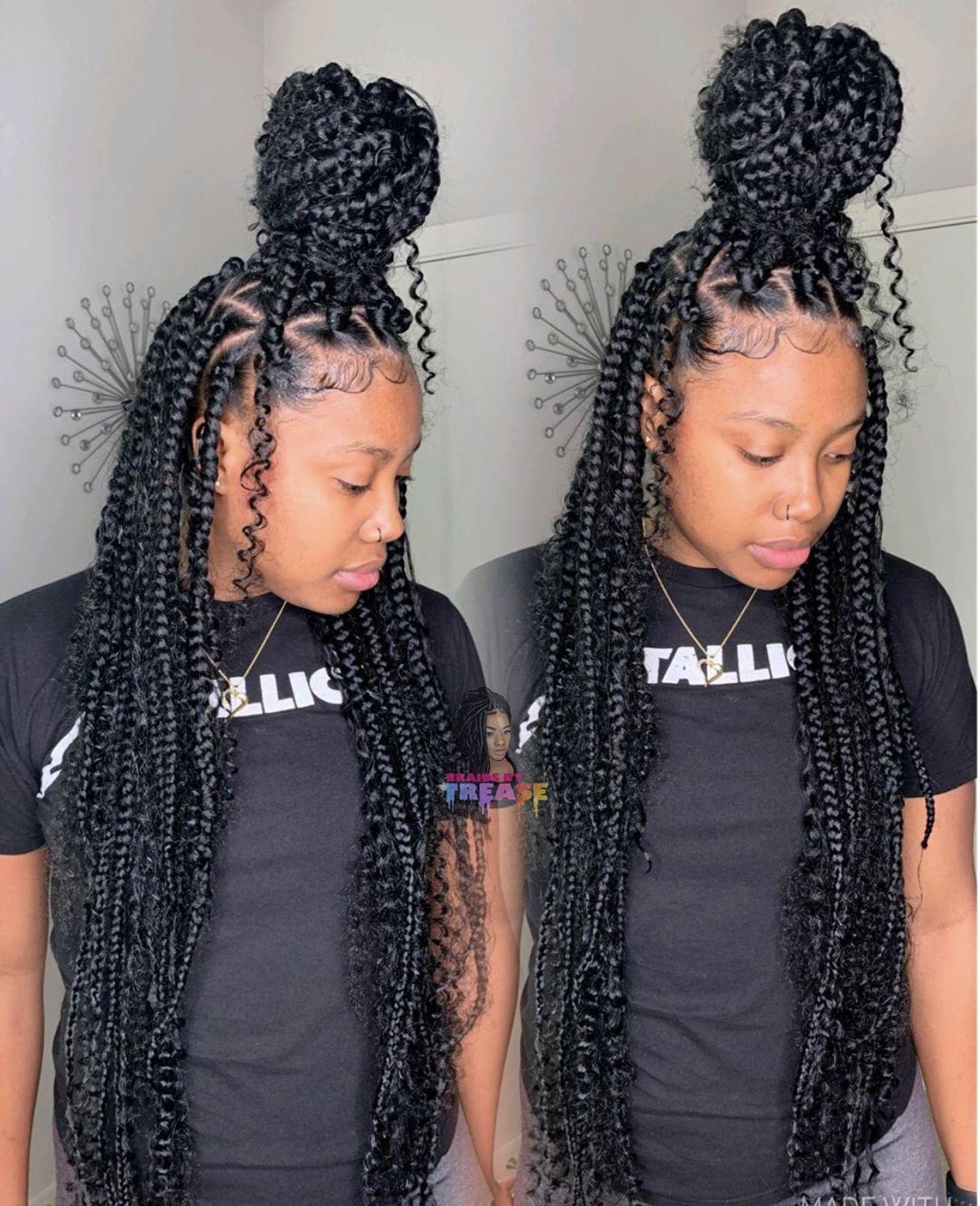 Boho Goddess Box Braids Braids With Curls Girls