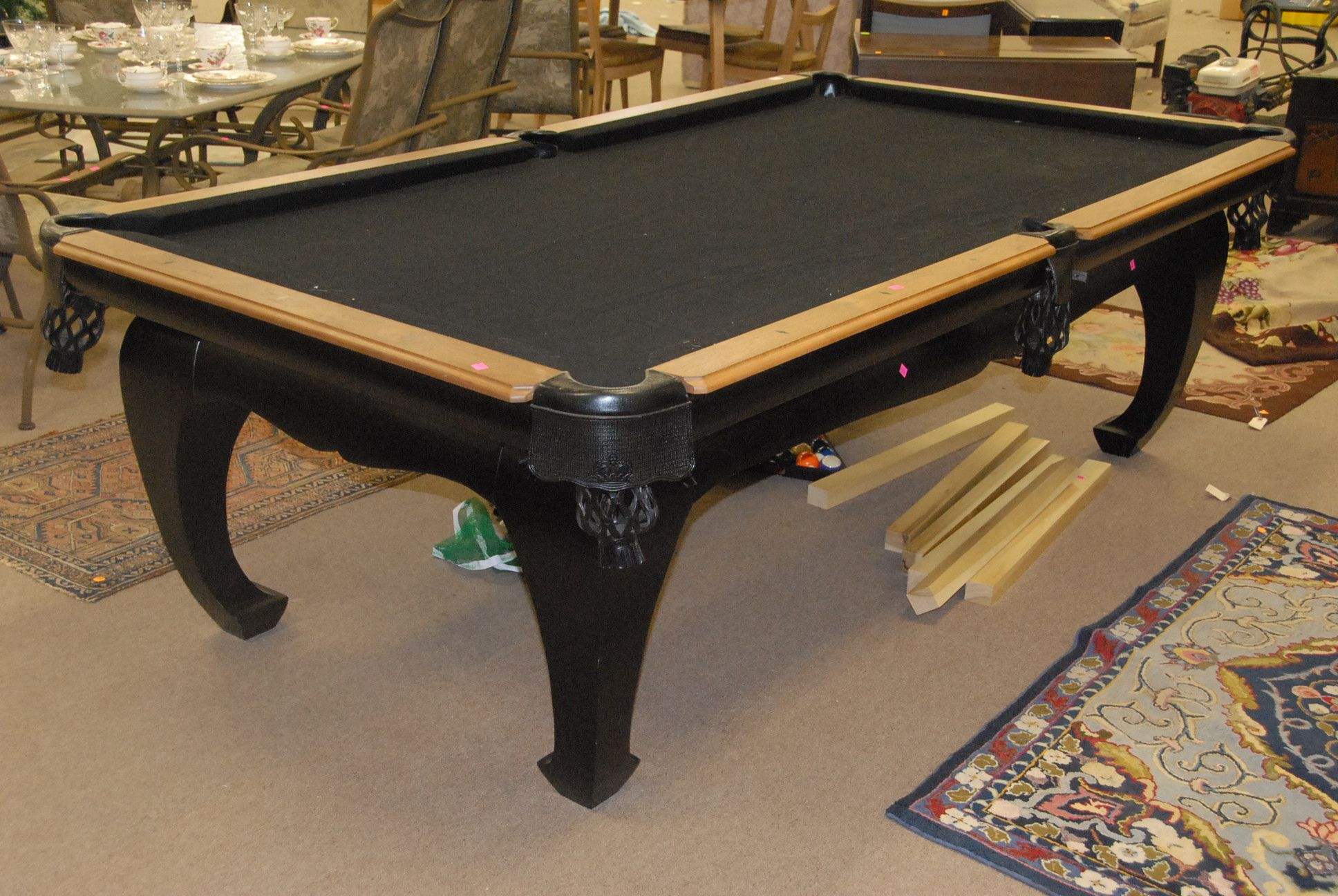 Accessories & Furniture Marvelous Black Wooden Pool Table Design