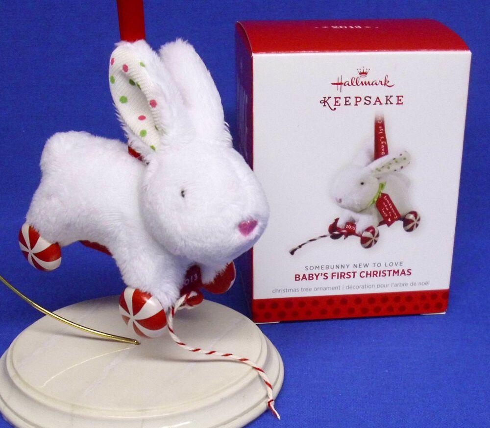 2014 Hallmark BABY BOY/'S FIRST CHRISTMAS Ornament Teddy Bear Blue Rattle My 1st