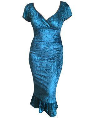 Blue Velvet Spanish Harlot Dress