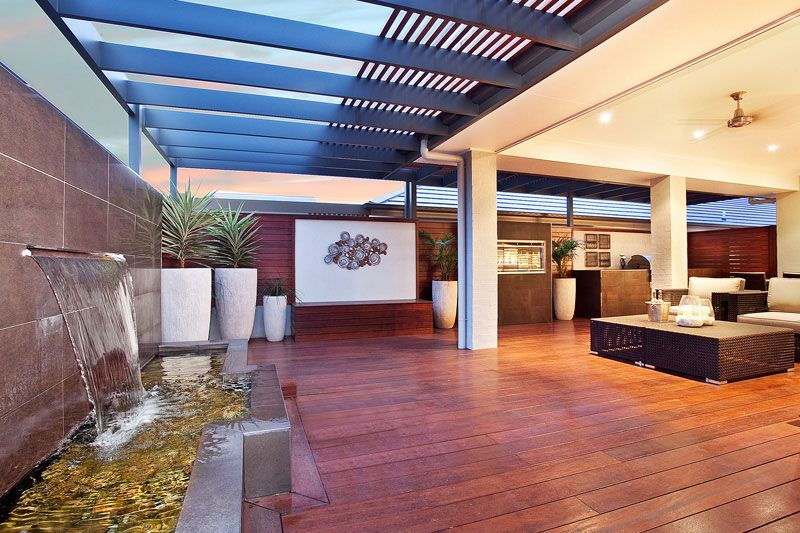Outdoor alfresco idea water feature house renovation for Outdoor alfresco designs