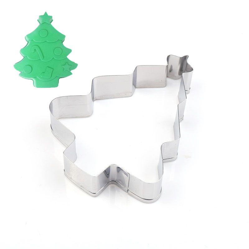 Tienda Online Cortador De Galletas De árbol De Navidad De Estrella De Acero Inoxidable C Cortadores De Galletas Galletas De árbol De Navidad Galletas Con Forma