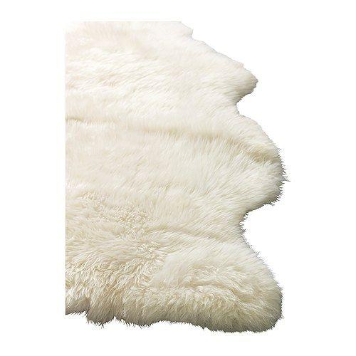 Ludde Peau De Mouton Blanc Blanc Casse Mit Bildern Schaffell Ikea Badplanung