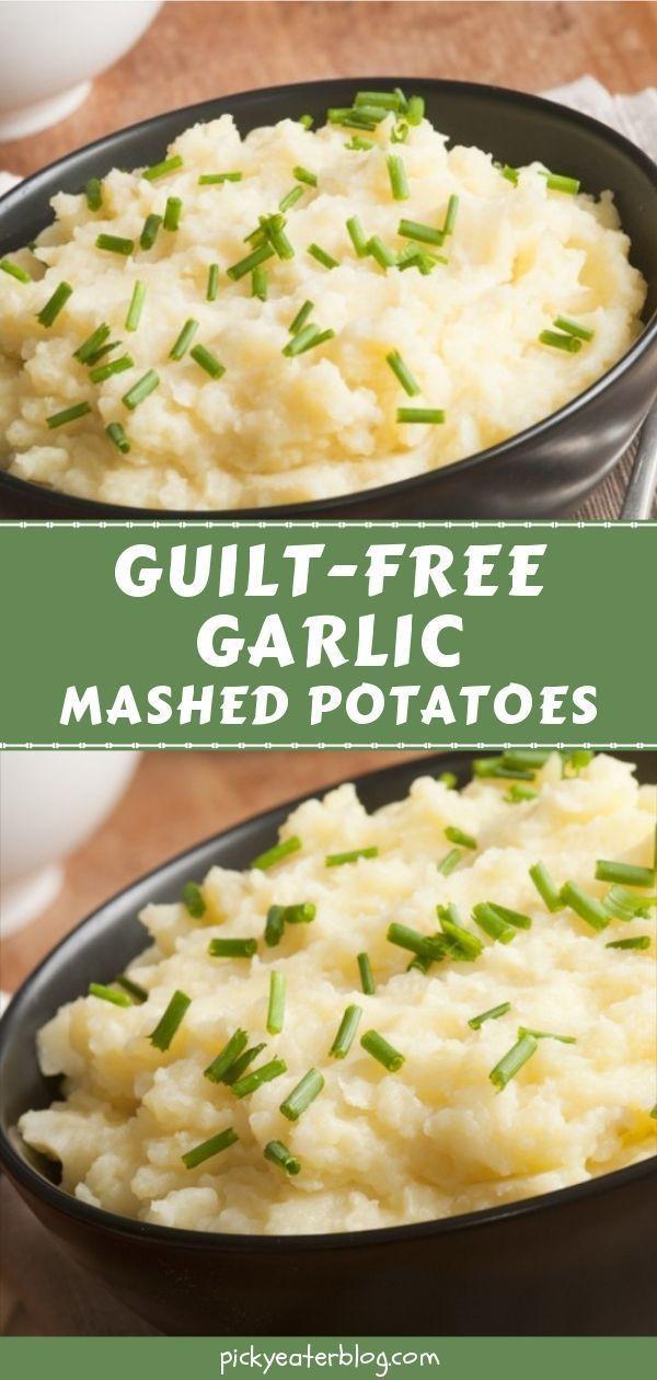 Guilt-Free Garlic Mashed Potatoes images
