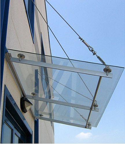 Auvent en verre pour portes et fenêtres GLASS Atrium Landscaping