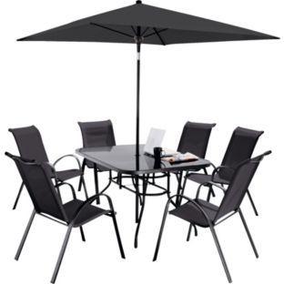 Sicily Garden Furniture Buy sicily 6 seater patio furniture set black at argos buy sicily 6 seater patio furniture set black at argos workwithnaturefo