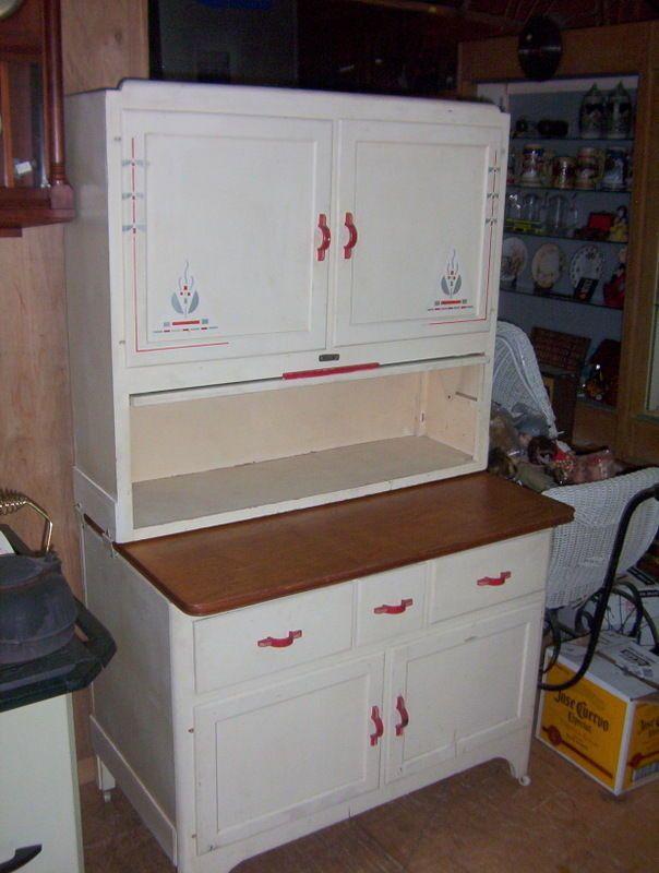 Vintage Early 1900 S Sellers Kitchen Hoosier Cabinet With Flower Bin