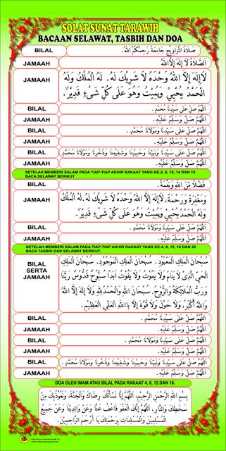 Bacaan Selawat Zikir Solat Sunat Terawih Solat Islamic Inspirational Quotes Inspirational Quotes