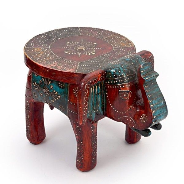 Magnificent Designer Wooden Elephant Stool Handicraft Gift 304 Onthecornerstone Fun Painted Chair Ideas Images Onthecornerstoneorg