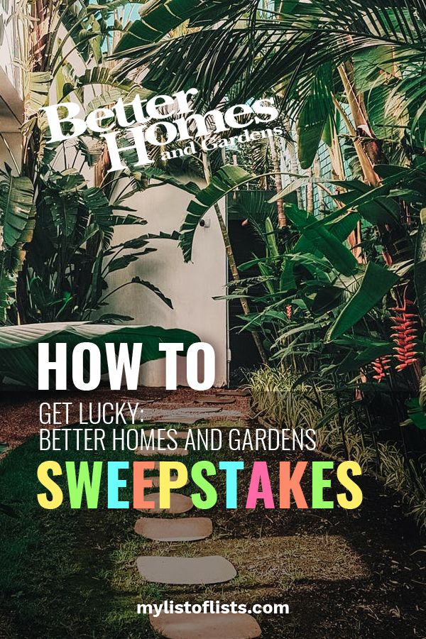 How To Get Lucky Better Homes And Gardens Sweepstakes