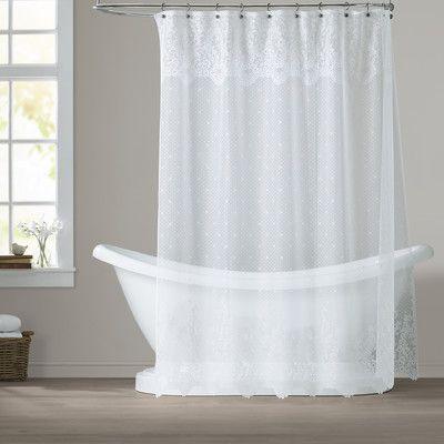 Victor Single Shower Curtain Lace Shower Curtains Farmhouse