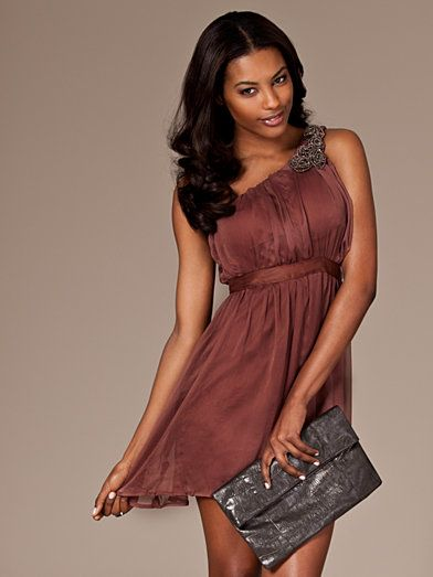 Valora Dress - Ax Paris - Brown - Party Dresses - Clothing - Women - Nelly.com