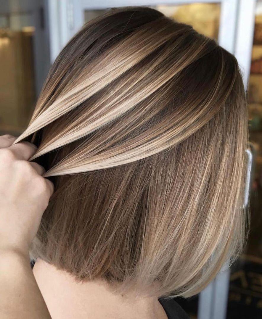 12 Flattering Balayage Hair Color Ideas for 12   Short hair ...