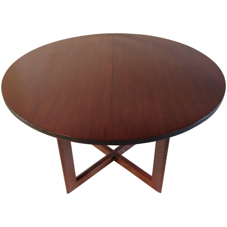 Frank Lloyd Wright Mahogany Oval Dining Table Heritage Henredon Talliesin 1955 Oval Table Dining Table Dining Table