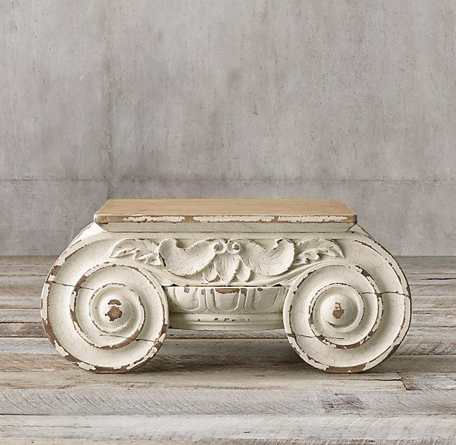Distressed Ionic Capital Coffee Table Coffee Table Restoration