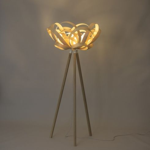 Bloom Ash Floor Lamp By Tom Raffield Sculptural Furniture Lamp Floor Lamp