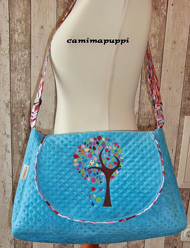 Klappentasche by Camimapuppi, pattern by farbenmix.de #sewing #bag ...