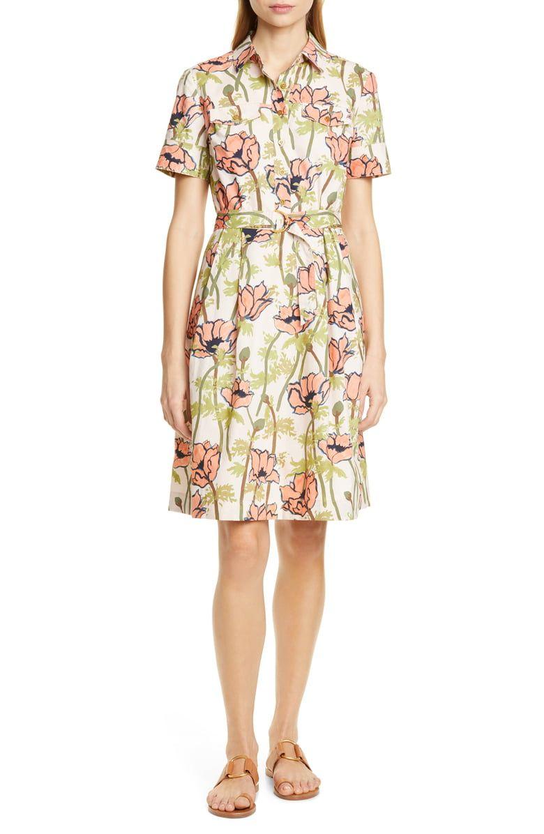 598542c9bee0 Tory Burch Floral Poplin Shirtdress | Nordstrom | Spring 2019 Wish ...
