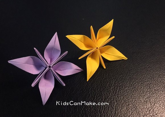 How To Origami Flower With Four Petals Instructions Kids Can Make Origami Flowers Instructions Origami Lotus Flower Origami Lily