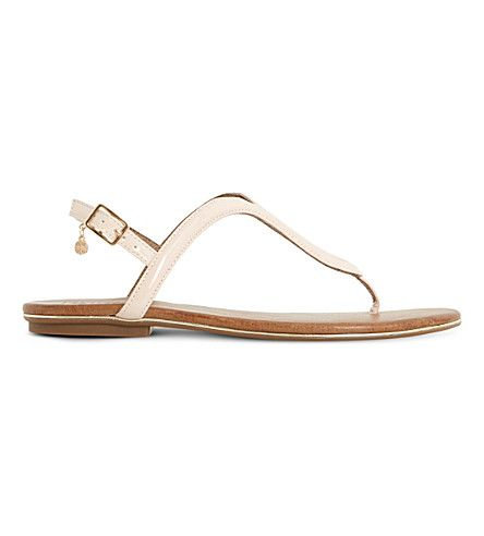 7e31f3baed7787 DUNE Lexy Loop patent sandals.  dune  shoes