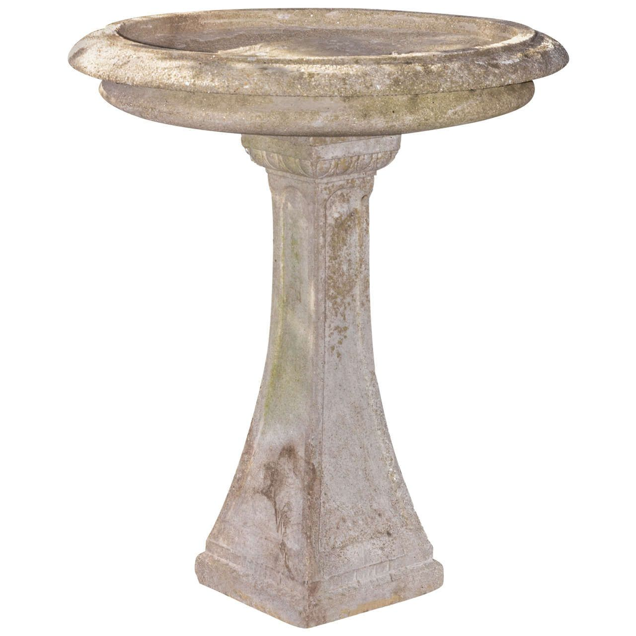 English Regency Style 1920's Bird Bath