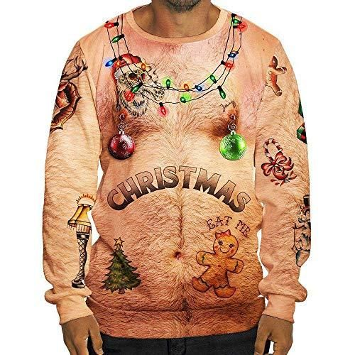 Funny Hairy Chest Christmas Ugly Sweater - Great For Christmas Ugly