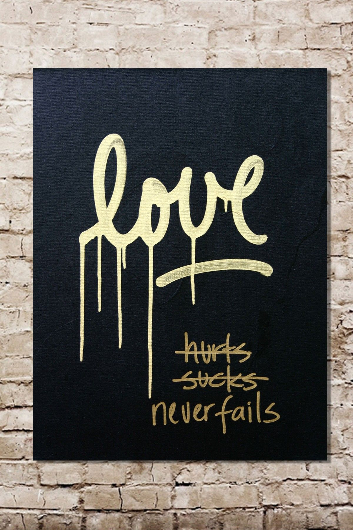 Love Sucks Quotes Love Sucks Blackgold Original One Of A Kind Acrylic On Canvas On